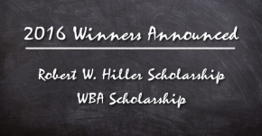 2016 Scholarship RecipientsAnnounced